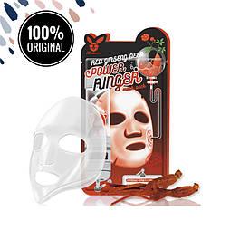 Тканевая маска для лица с экстрактом женьшеня ELIZAVECCA Red Ginseng Deep Power Ringer Mask