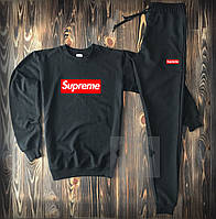 Спортивный костюм мужской в стиле Supreme black | весенний осенний