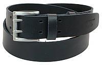 Кожаный ремень Skipper 110-130 x 4.5 см Темно-синий 1194-45, КОД: 390015