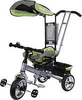 Велосипед триколісний SUN BABY  Luxus Trike XG18819G Z з ручкою Зелений 3072018055, КОД: 130622