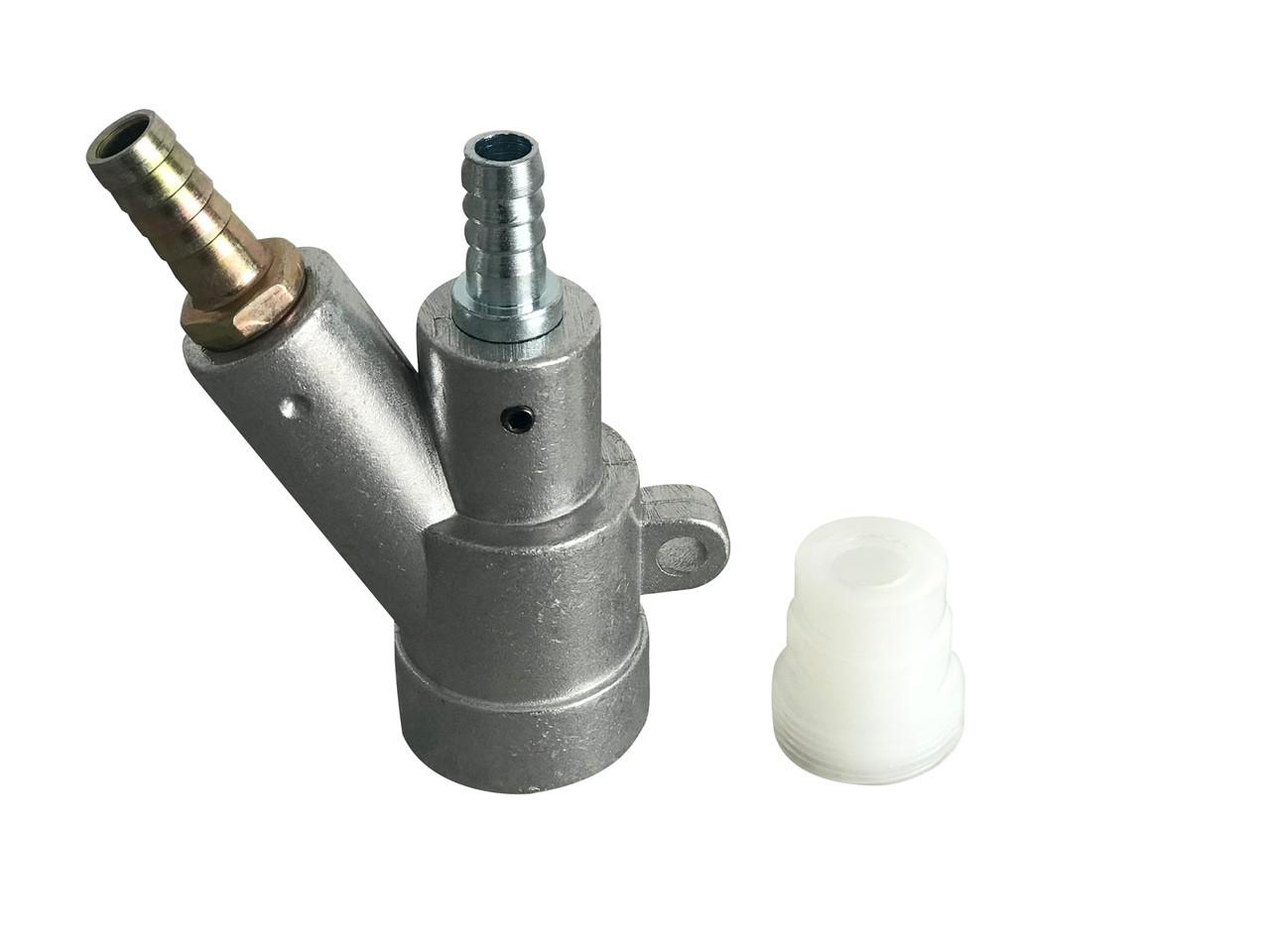 Пескоструйный пистолет-смеситель Boro (для сопел из карбид бора). Инжекторного типа.