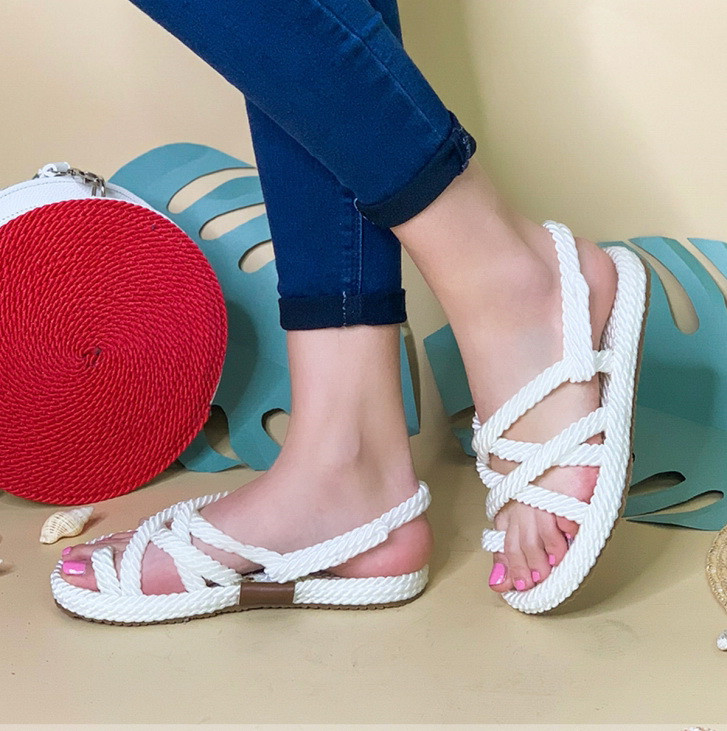 Плетеные сандалии на плоском ходу Размер 36-40