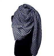 Палантин женский Bruno Rossi 150 х 140 см Черно-белый CH158 dark-blue, КОД: 190717