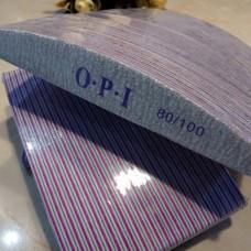 Пилочка для ногтей 50шт 80/100 OPI лодочка