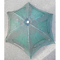 """Раколовка """"зонт"""" автоматическая, 100см, 6 входов (большая)"""