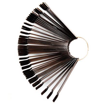 Палитра-веер на кольце черная 50 шт, фото 2