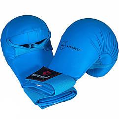 Перчатки для карате Budo-Nord WKF Approved Blue S, КОД: 100033
