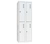 Шкаф одежный металлический ШОМ-400/2-4, Н1800х800х500 мм