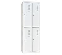 Шкаф одежный металлический ШОМ-400/2-4, Н1800х800х500 мм, фото 1