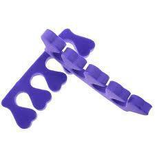 Разделители для пальцев ног 100 пар, растопырки для педикюра