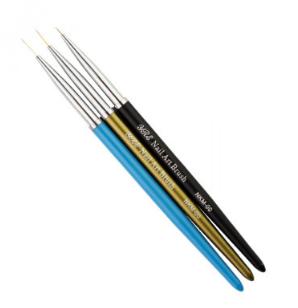 Набор кистей для рисования Yre Nail Art Brush NKM 00, 3 шт.