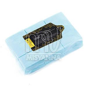 Безворсовые салфетки Starlet Professional 6х4см, 800 шт плотные голубые