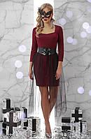 Платье GLEM Аэлита L Бордовый GLM-pl00178, КОД: 709689