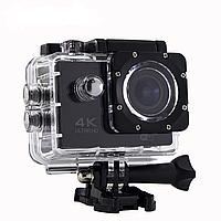 🔝 Водонепроницаемая Экшн Камера Action Camera UKC S2 4K Ultra HD WiFi, подводная видеокамера, Чёрная | 🎁%🚚