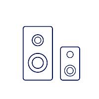 Колонка JBL SLC-053 Цвет Сине-Жёлтый
