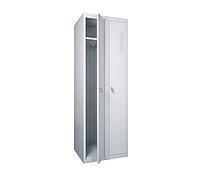 ШОП-400/2 шкаф одежный металлический усиленный, Н1800х800х500 мм, двухсекционный, фото 1