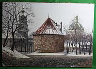 Пороховая башня Львов   холст , масло.