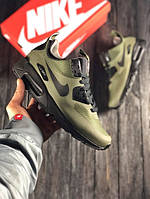 Мужские кроссовки Nike Air Max 90 Ultra MID Хаки (Найк Аир Макс 90)