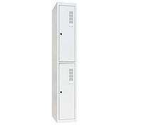 Шкаф одежный металлический ШОМ-300/1-2, 1800х300х500 мм, 1 секция, 2 ячейки, фото 1