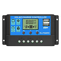 KW1230 контроллер заряда солнечной батареи 12 В 24 В 30 А ШИМ | код: 10.03553