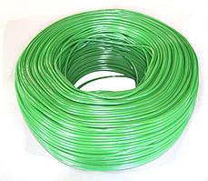Кембрик КС для винограду (агротрубка ПВХ), підв'язка для рослин, 3 мм зелений, бухта 1 кг