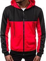 Кофта мужская с капюшоном JSTL XL Красный LS9001R, КОД: 1079043