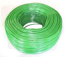 Кембрик КС для винограду (агротрубка ПВХ), підв'язка для рослин, 3 мм зелений, бухта 5 кг