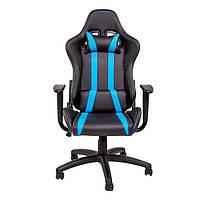 """Компьютерное кресло для геймера """"Zeus Zebra"""" черно-синий"""