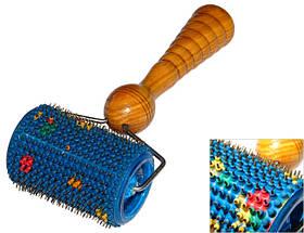 Аплікатор Ляпко Валик Універсальний 3,5 М Ag - ручний голчастий масажер для суглобів, від целюліту Синій