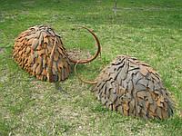 Декоративная , садово-парковая скульптура из черного метала , ледниковый период.