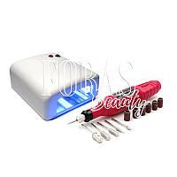 Набор лампа УФ Лампа 818 36W + фрезер-ручка для маникюра YRZ-0520 000 об/мин