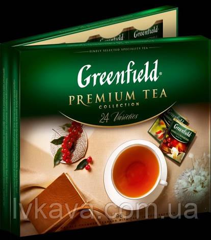 Набор 24 вида пакетированного чая Premium tea Collection Greenfield, 96 пак, фото 2