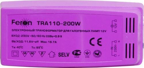 Трансформатор TRA110 250W 220/12В