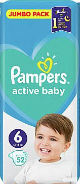 Подгузники  Pampers Active baby 6/52 шт , фото 2