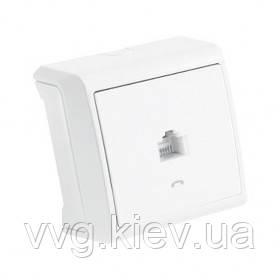 Розетка компьютерная (RJ-45 CAT5E) (белая) VIKO Vera  купить по ... d875fe247cd