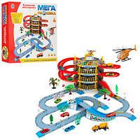 Детский Гараж 922-10, 4 этажа, 2 машинки, вертолёт