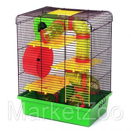 """Клетка для хомяков """"Хомяк 3 люкс"""".Размер - 335х230х430, фото 2"""