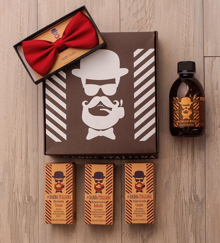 Подарунковий набір для чоловіків Barba Italiana з 4х продуктів
