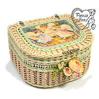 Под заказ. Шкатулка плетеная для косметики, резинок, заколок, швейных мелочей, бижутерии. Ручная работа.