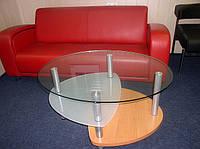 Журнальный стеклянный столик  Эпсилон