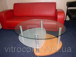Журнальний скляний столик Епсилон