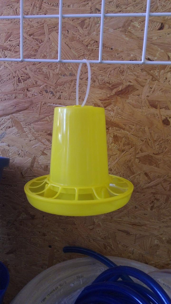 Кормушка желтая объем 1 л