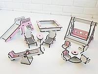 Детская площадка в кукольный домик для кукол Лол и пупсов