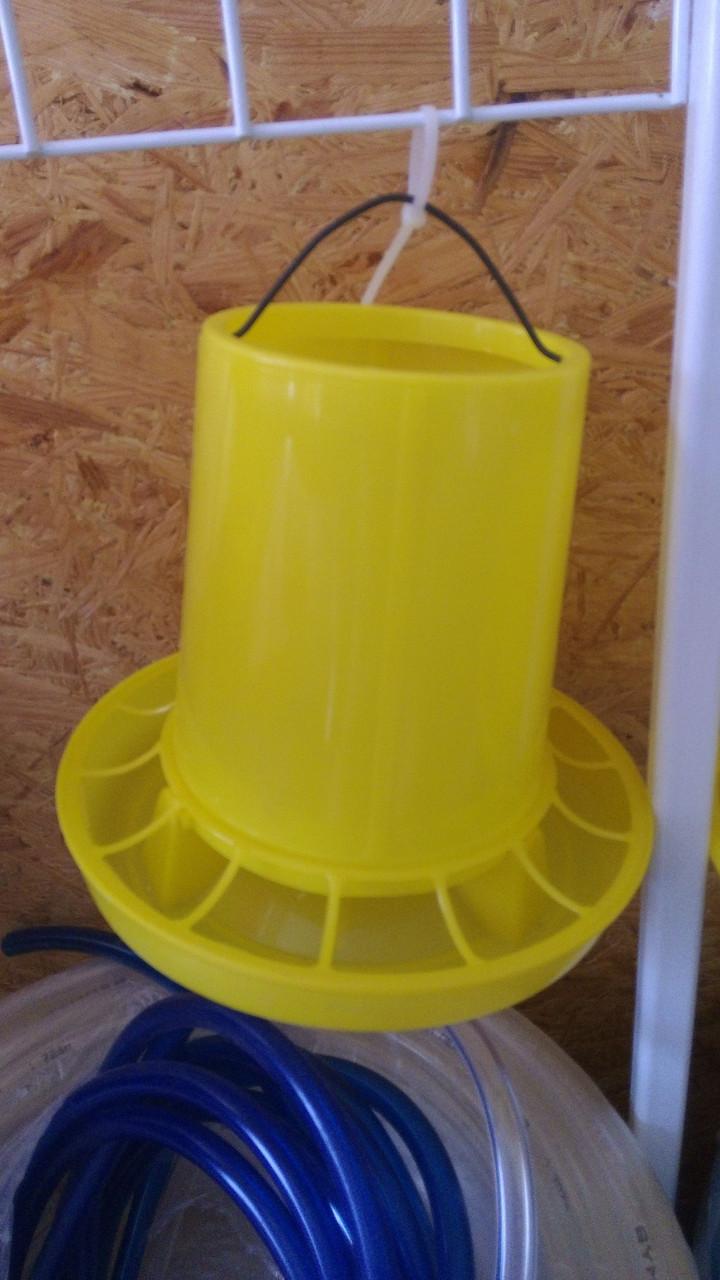 Кормушка желтая объем 2 л