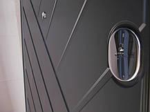 """Металлические входные двери Редфорт """"Гранит"""" серый тисненый МДФ в квартиру, фото 2"""