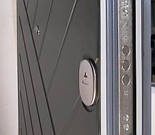 """Металлические входные двери Редфорт """"Гранит"""" серый тисненый МДФ в квартиру, фото 3"""