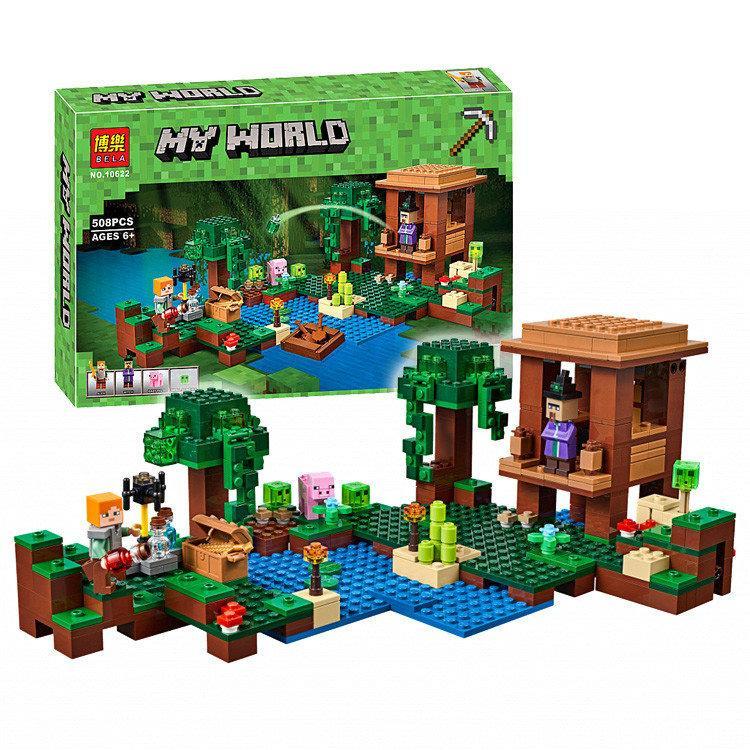 Конструктор Bela 10622 Майнкрафт Хижина Ведьмы (аналог Lego Minecraft 21133)