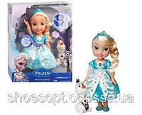 Кукла принцесса Эльза Frozen Холодное сердце 34см, музыка, свет, глаза стекло, фото 1