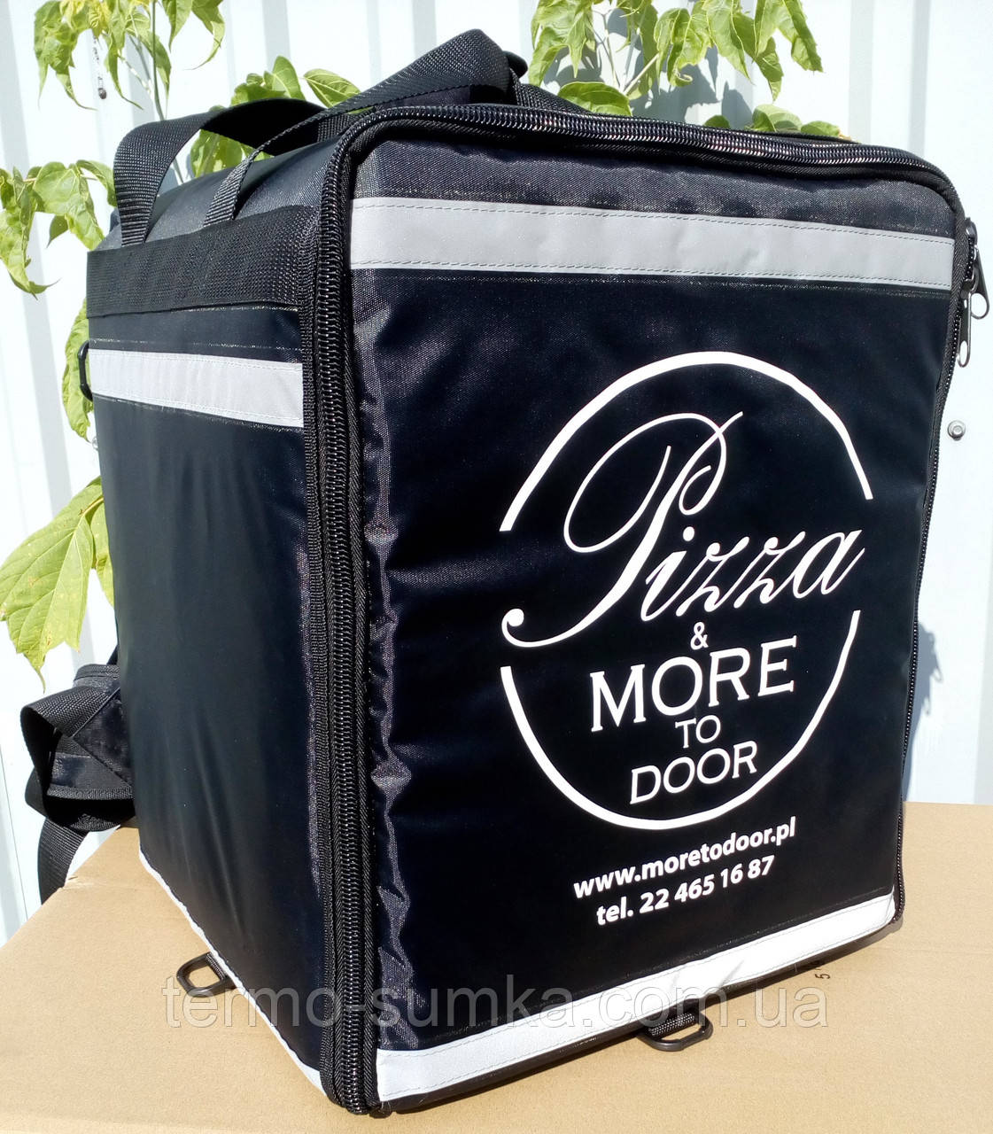 Каркасна термосумка - рюкзак для кур'єрської доставки страв та піци. 33*33, висота 42