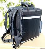 Каркасна термосумка - рюкзак для кур'єрської доставки страв та піци. 33*33, висота 42, фото 2